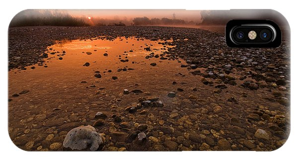 Red Sky iPhone X Case - Water On Mars by Davorin Mance
