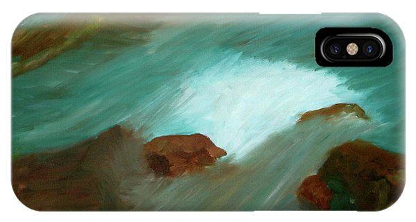 Water Over The Rocks IPhone Case