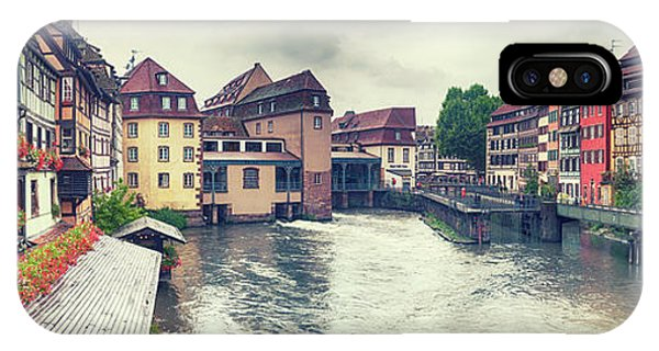 IPhone Case featuring the photograph water panorama in Strasbourg  by Ariadna De Raadt