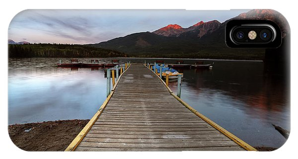 Park Bench iPhone Case - Water Reflections At Pyramid Lake by Mark Duffy