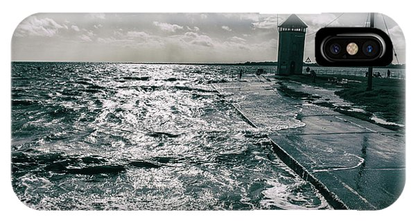 Tidal iPhone Case - Water Rising by Martin Newman