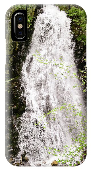 Water Roaring Down Cascade Falls, Farmington, Maine  -30377 IPhone Case