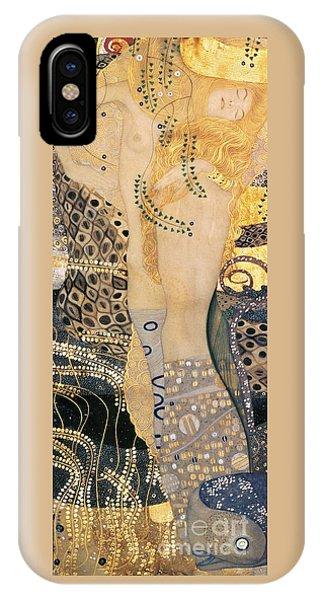Blond iPhone Case - Water Serpents I by Gustav klimt