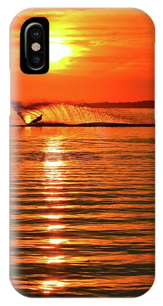 Water Skiing At Sunrise  IPhone Case