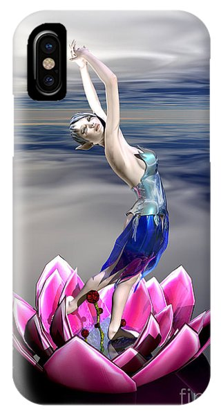 IPhone Case featuring the digital art Water Sprite by Sandra Bauser Digital Art