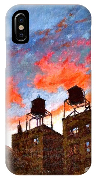 Water Towers At Sunset No. 1 IPhone Case