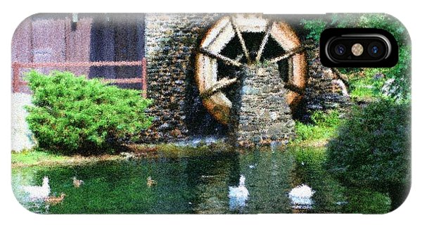Water Wheel Duck Pond IPhone Case