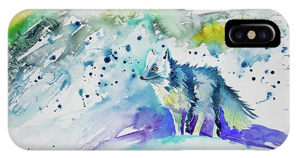 Watercolor - Arctic Fox IPhone Case