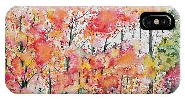Watercolor - Autumn Forest IPhone Case