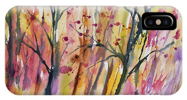 Watercolor - Autumn Forest Impression IPhone Case