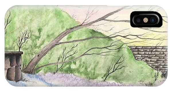 Watercolor Barn IPhone Case