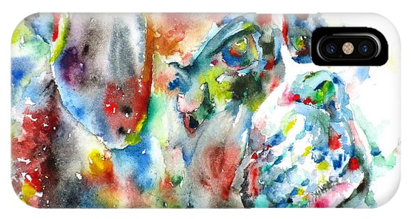 Watercolor Boxer IPhone Case