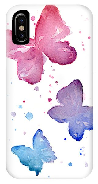 Insect iPhone Case - Watercolor Butterflies by Olga Shvartsur