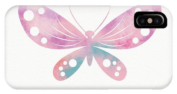 Wings iPhone Case - Watercolor Butterfly 1- Art By Linda Woods by Linda Woods