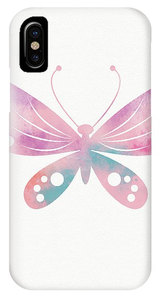 Pink iPhone Case - Watercolor Butterfly 1- Art By Linda Woods by Linda Woods