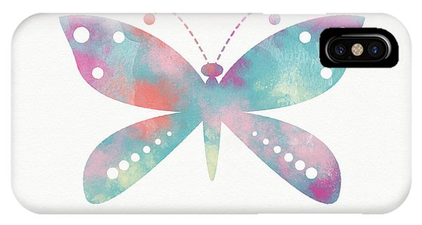 Pink iPhone Case - Watercolor Butterfly 3-art By Linda Woods by Linda Woods