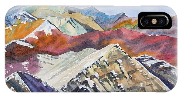 Watercolor - Colorado Elk Range View IPhone Case
