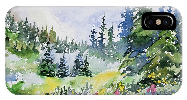 Watercolor - Colorado Summer Scene IPhone Case
