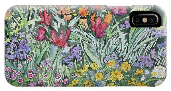 Watercolor - Empress Hotel Gardens IPhone Case