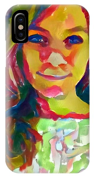 Watercolor Eve Female Portrait Painting Bathed In Sunshine And Vibrant Color Phone Case by MendyZ