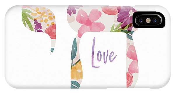 Watercolor iPhone Case - Watercolor Floral Chai Love- Art By Linda Woods by Linda Woods