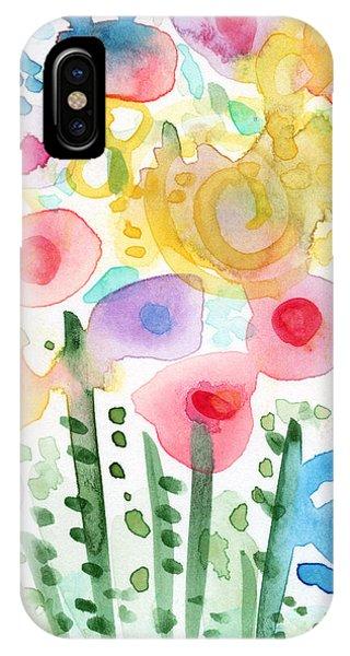 Watercolor Flower Garden- Art By Linda Woods IPhone Case