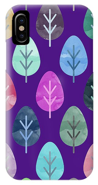 Design iPhone Case - Watercolor Forest Pattern II by Amir Faysal