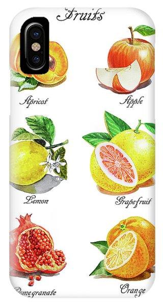 Grapefruit iPhone Case - Watercolor Fruit Illustration Collection I by Irina Sztukowski