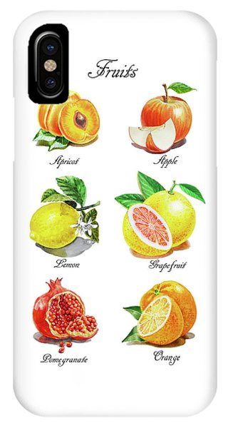 Grapefruit iPhone Case - Watercolor Fruit Illustration Collection I by Irina Sztukowski