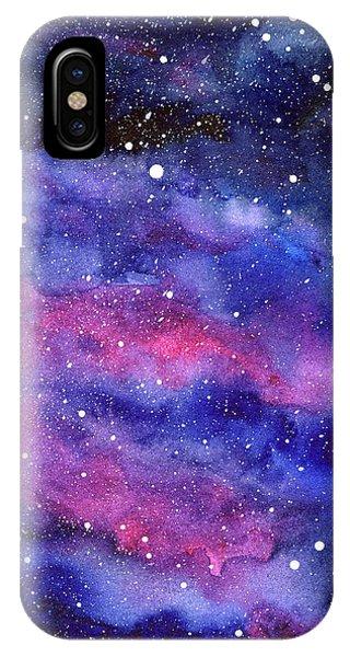 Watercolor Galaxy Pink Nebula IPhone Case