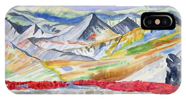 Watercolor - High Alpine Autumn Landscape IPhone Case