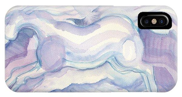 Watercolor Horses Phone Case by Linda Kay Thomas