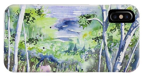 Watercolor - Lake Superior Impression IPhone Case