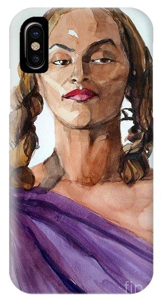 Portrait In Watercolor Of A Brooklyn Queen IPhone Case