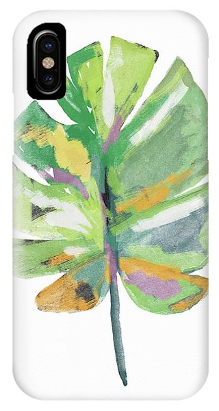 Watercolor Palm Leaf- Art By Linda Woods IPhone Case