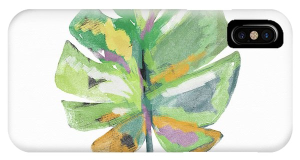 Watercolor iPhone Case - Watercolor Palm Leaf- Art By Linda Woods by Linda Woods