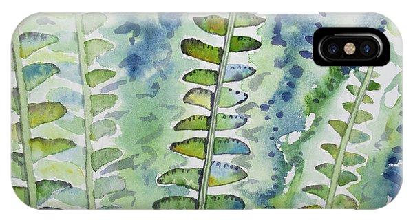 Watercolor - Rainforest Fern Impressions IPhone Case