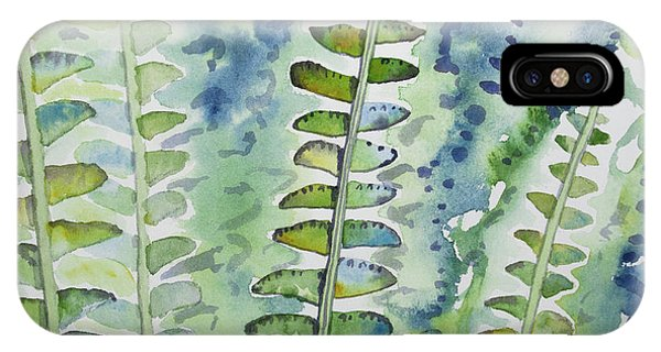 Watercolor - Rainforest Fern Impressions IPhone Case