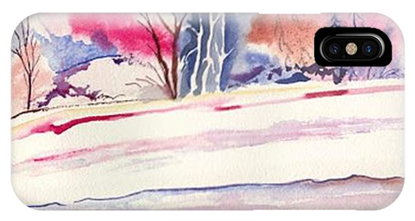 IPhone Case featuring the painting Watercolor River by Darren Cannell