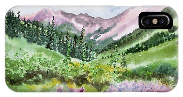 Watercolor - San Juans Mountain Landscape IPhone Case