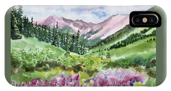 Watercolor - San Juans Mountain Landscape IPhone Case