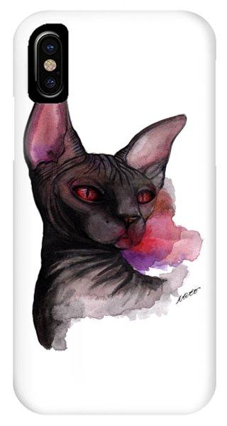 Watercolor Sphinx IPhone Case