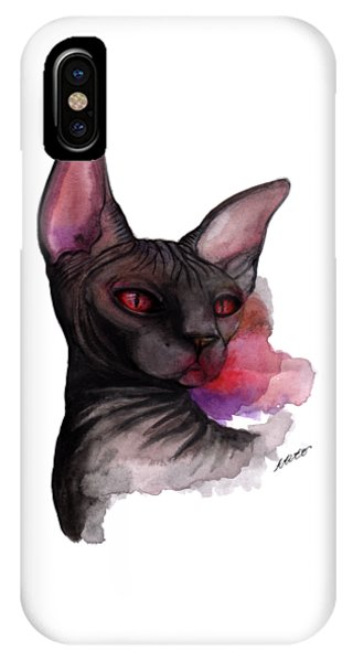 Watercolor Sphinx IPhone Case