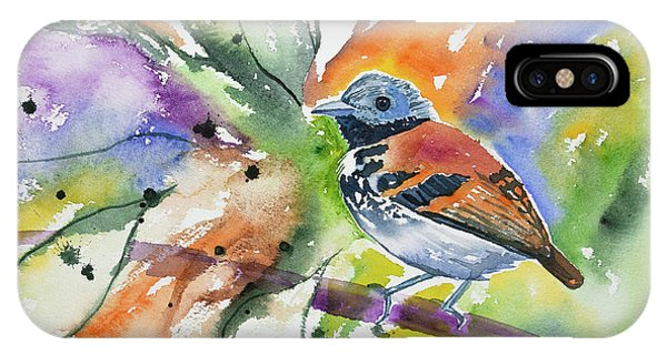 Watercolor - Spotted Antbird IPhone Case