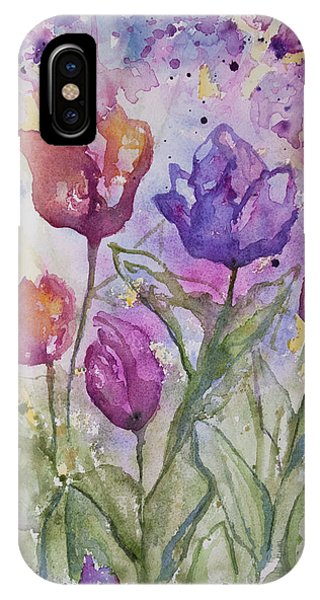 Watercolor - Spring Flowers IPhone Case