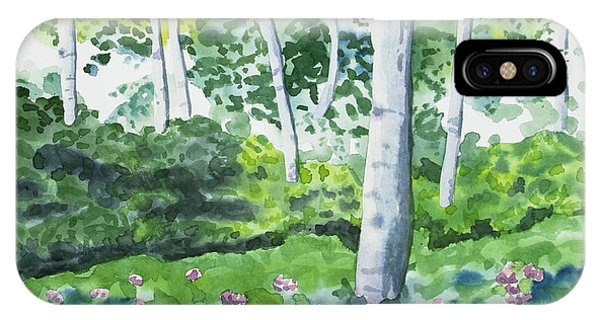 Watercolor - Spring Forest And Flowers IPhone Case