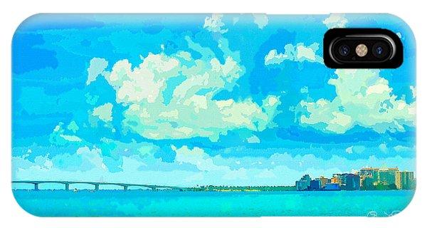 Watercolor Spring On Sarasota Bay IPhone Case