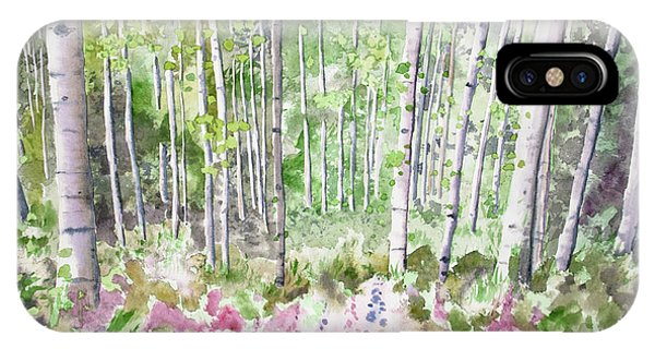 Watercolor - Summer Aspen Glade IPhone Case