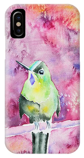 Watercolor - Violet-tailed Sylph IPhone Case