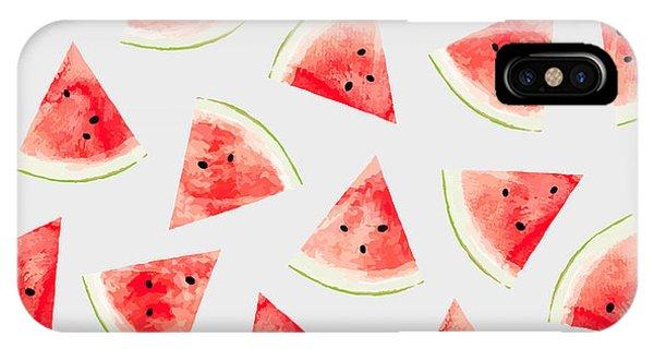 Watercolor Watermelon Pattern IPhone Case